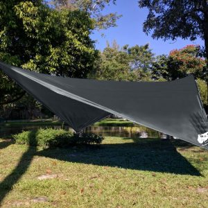 Medium image of chill gorilla 10 u2032 hammock rain fly tent tarp waterproof camping shelter  essential survival gear