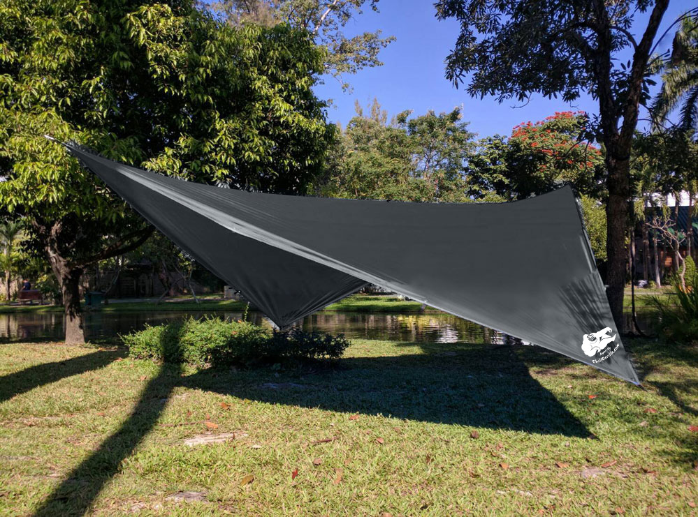 Medium image of chill gorilla 10 u2032 hammock rain fly tent tarp waterproof camping