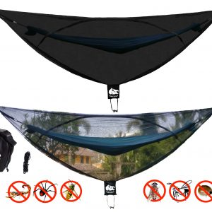 CHILL GORILLA 11′ BUG NET Stops Mosquitos, No See Ums & Repels Insects. Fits ALL Camping Hammocks. Compact, Lightweight. Eno Accessory. Fast Easy Setup. Size 132″ x 51″